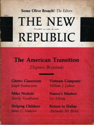 HARRISON, GILBERT A., EDITOR-IN-CHIEF - The New Republic Vol 157 No 26