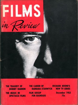 HART, HENRY, ED. - Films in Review Vol. XIV, No. 10.
